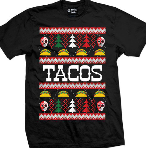 Tacos Ugly Christmas Sweater Men's T-Shirt