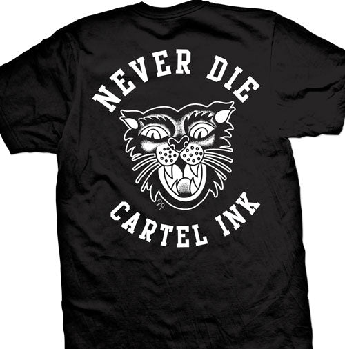 Never Die by Cartel Ink tattoo art by dre perales
