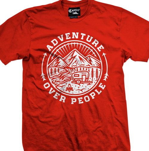 Adventure over People Men's T-Shirt