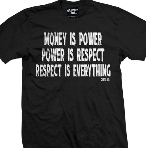 Money is Power Power is Respect Respect is Everything