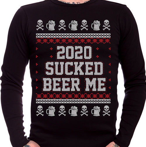 Beer Me 2020 Sucked Ugly Christmas Sweater Long Sleeve T-Shirt