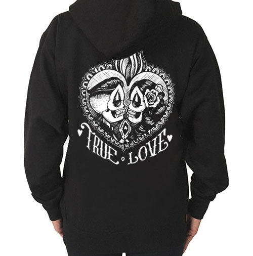 True Love Zippered Hoodie