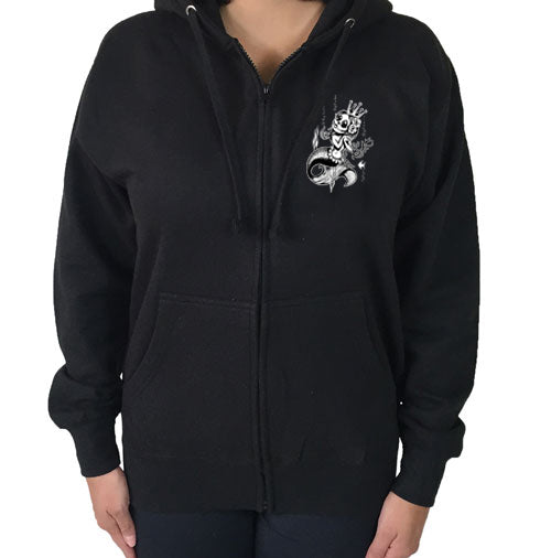 Queen of the Sea Zippered Hoodie
