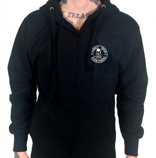 Family First Zippered Men's Hoodie