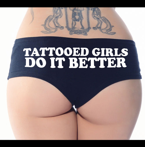 tattooed girls do it better booty short
