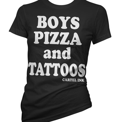 Boys Pizza and Tattoos Women's T-Shirt