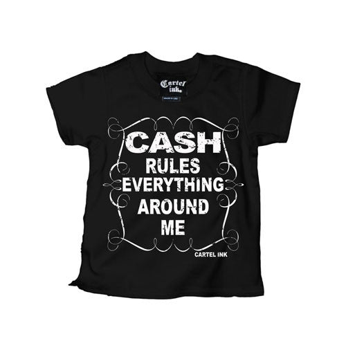 Cash Rules Everything Around Me Kid's T-Shirt