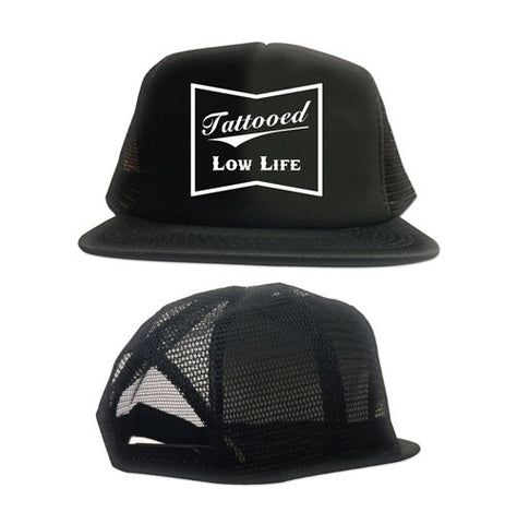 Tattooed Low Life Flat Bill Flex Fit Hat