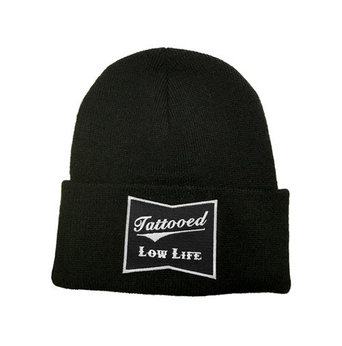 OG Tattooed Low Life Cuffed Knit Beanie – Cartel Ink 6ce405a0642