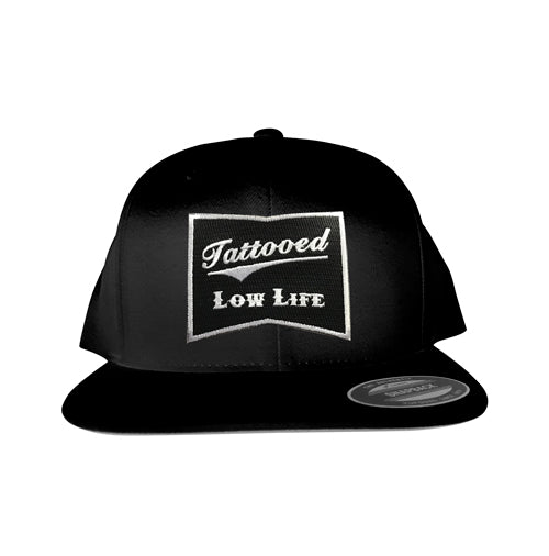 OG Tattooed Low Life Embroidered Patch Snapback Hat Black