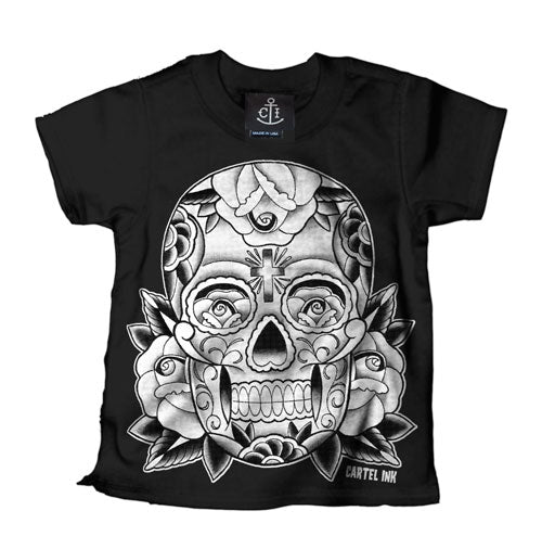 Sugar Skull Black Kid's T-Shirt