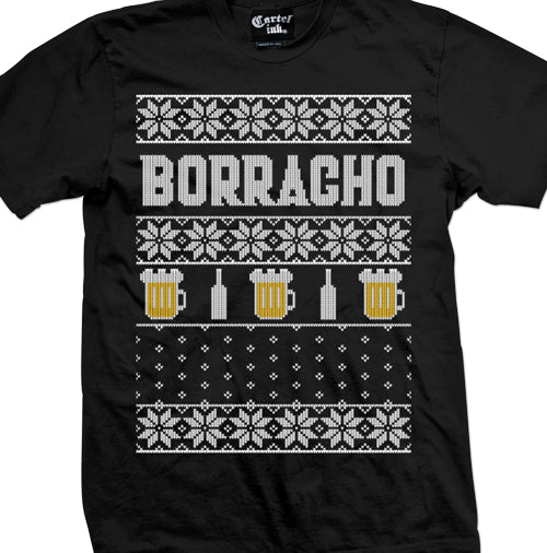 Borracho Ugly Christmas Sweater Men's T-Shirt