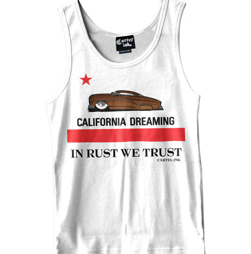 California Dreaming White Men's Tank Top