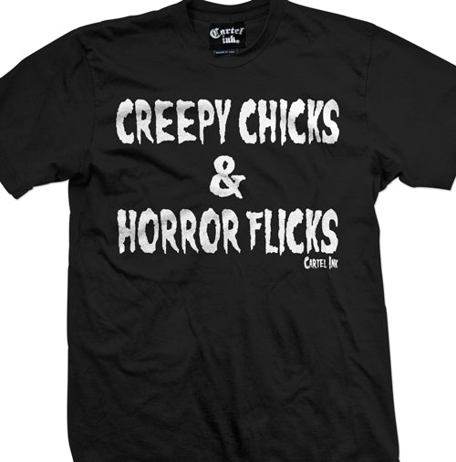 Creepy chicks and horror flicks