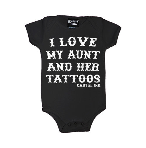 I Love My Aunt and Her Tattoos Infant's Onesie