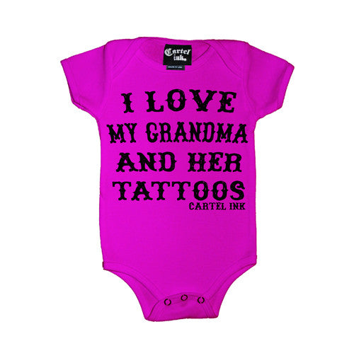 I Love My Grandma and Her Tattoos Infant's Onesie