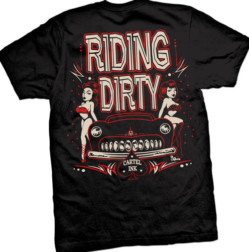riding dirty classic car tee