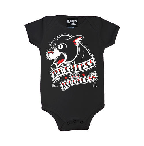 ruthless and toothless infant onesie