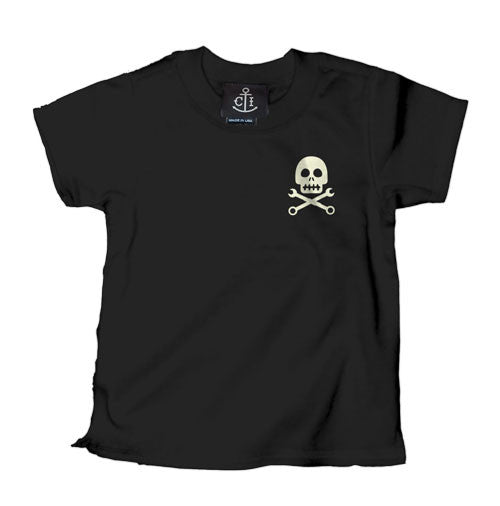 Skully Pinstripe Kid's T-Shirt
