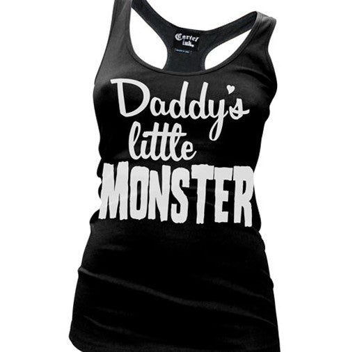 Daddy's Little Monster Women's Racer Back Tank Top