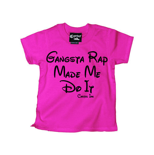 Gangsta Rap Made Me Do It Kid's T-Shirt