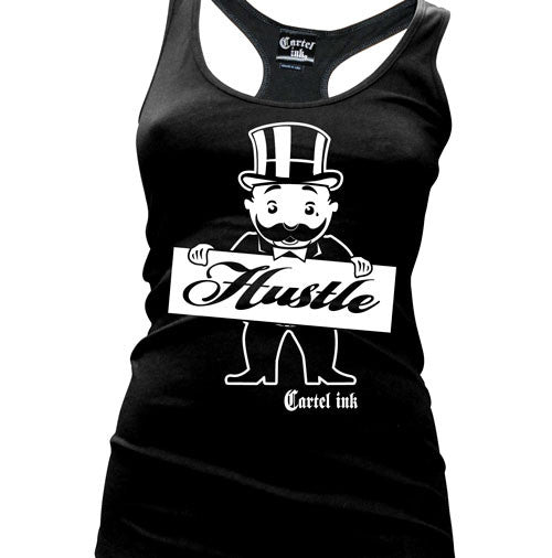 Hustle Women's Racer Back Tank Top