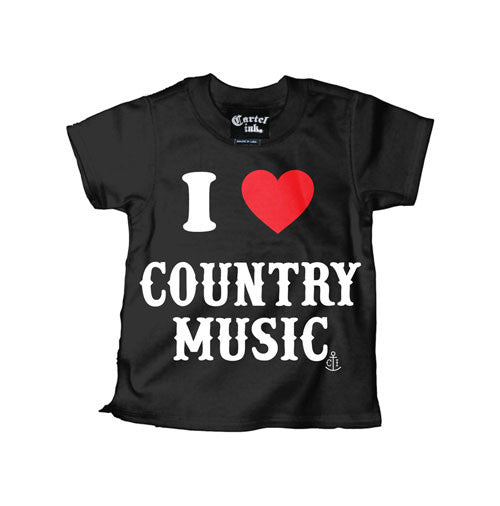 I Love Country Music Kid's T-Shirt