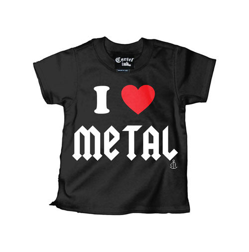 I Love Metal Kid's T-Shirt