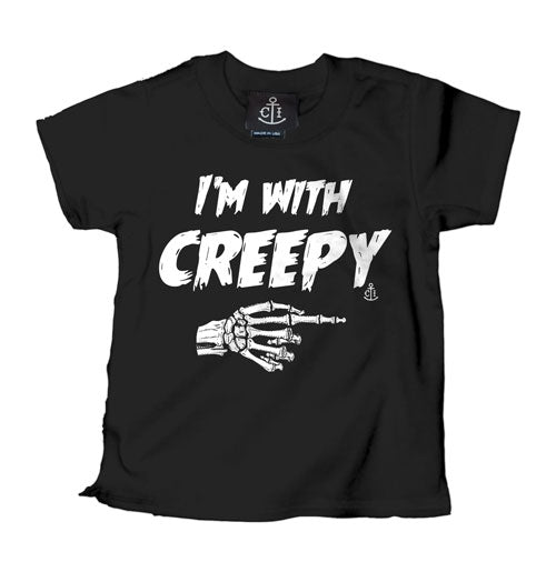 I'm With Creepy Black Kid's T-Shirt