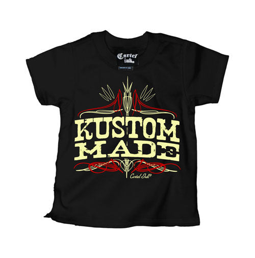Kustom Made Black Kid's T-Shirt