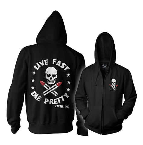 Tattooed Low Life Zippered Hoodie
