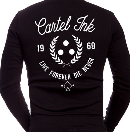 Live Forever Die Never Men's Long Sleeve T-Shirt