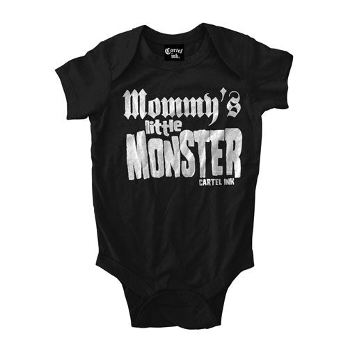 Mommy's little monster infant baby onesie