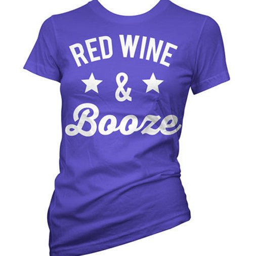 Red Wine and Booze Women's T-Shirt
