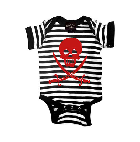 Skull and Sabers Striped Infant's Onesie