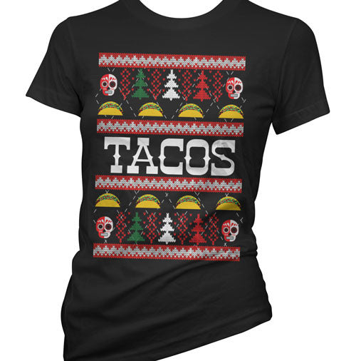 Tacos Ugly Christmas Sweater Women's T-Shirt