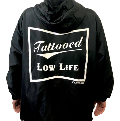 Rose and Switchblade Tattoo Zippered Hoodie
