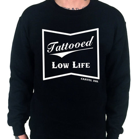 Tattooed Low Life Camouflage Pullover Hoodie Men's Design