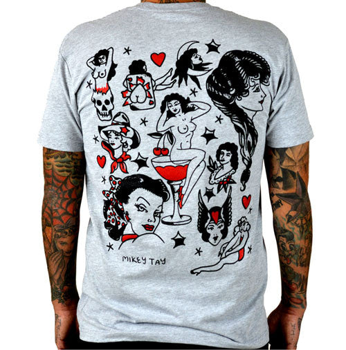 Pinup Tattoo Flash Men's T-Shirt