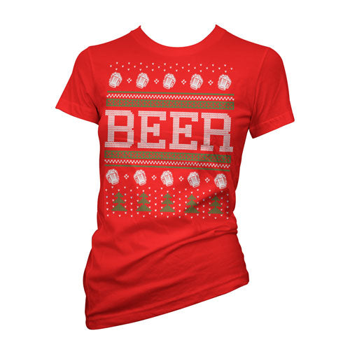 Beer Ugly Christmas Sweater Women's T-Shirt