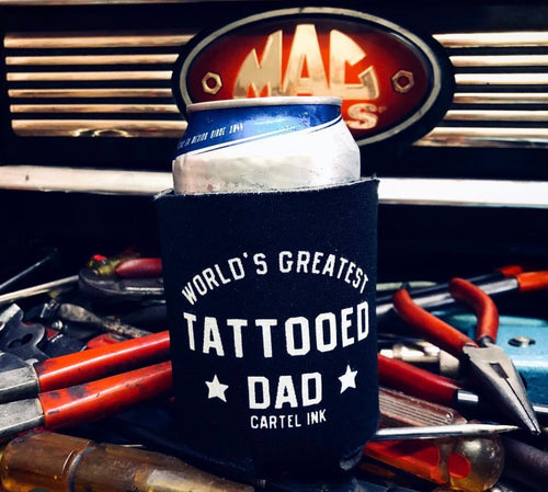 World's Greatest Tattooed Dad Can Koozie