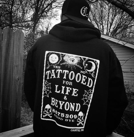 Tattooed Low Life Green Camo Zippered Hoodie