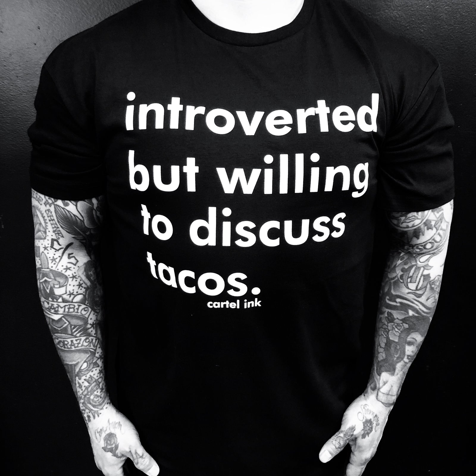 Introverted Tacos  Men's T-Shirt