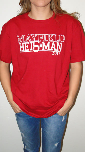 """Mayfield Red"" Gameday Tee"