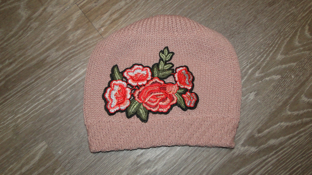 Pink Embellished Beanie