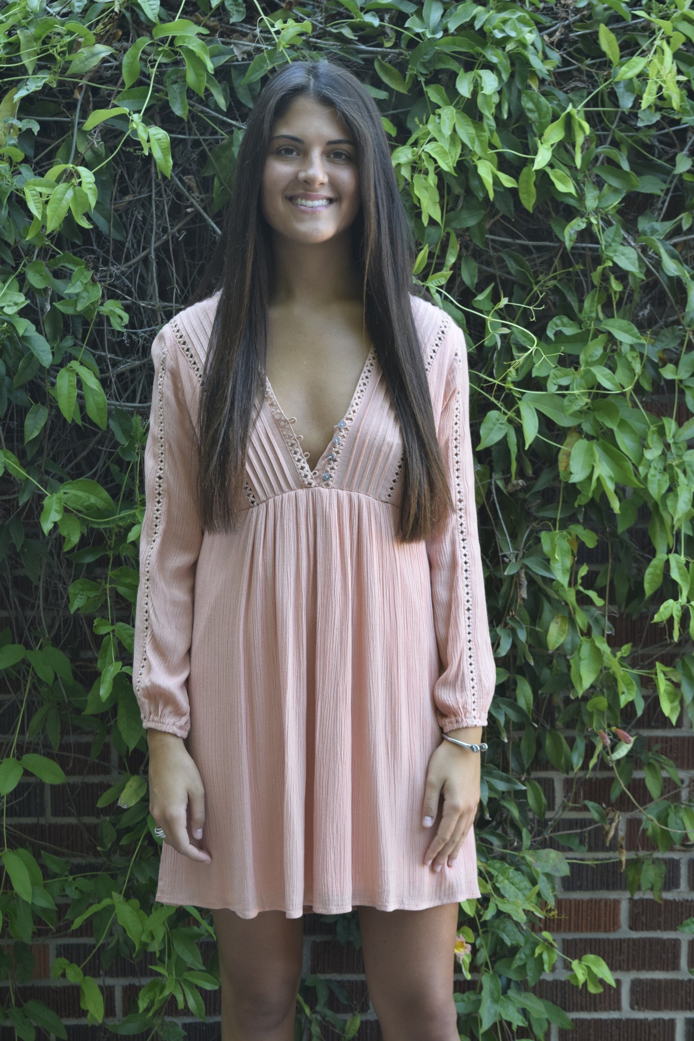 Pink She & Sky Longsleeve Dress