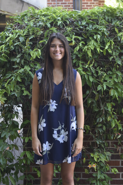 Peppermint Navy Floral Dress