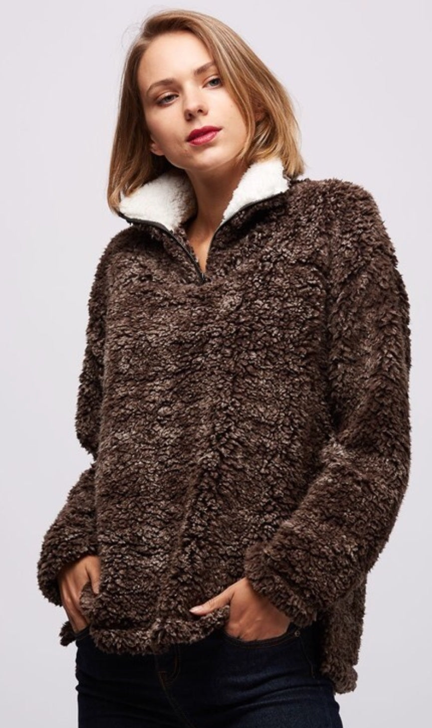 Brown Pull Over