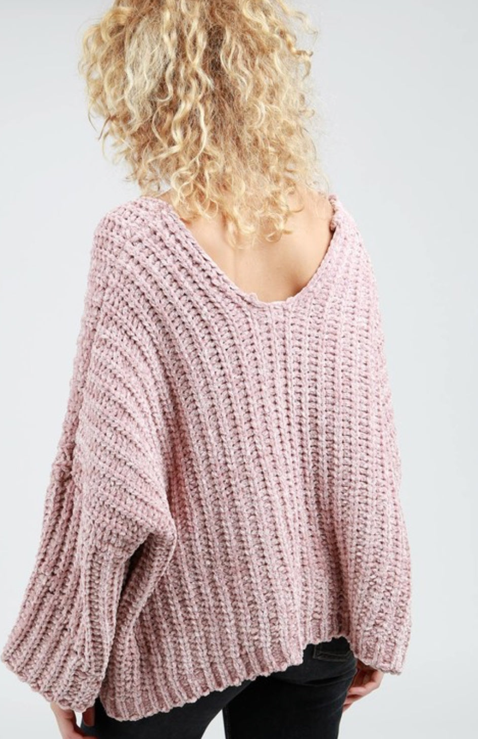 Pink Oversized Sweater