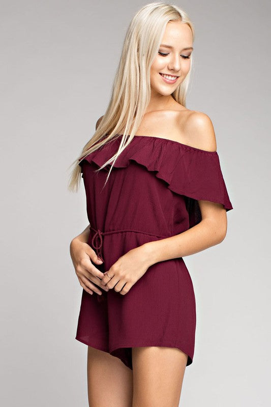 Honey Punch Wine Romper